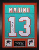 Dan Marino Autographed & Framed TealMiami Dolphins Jersey JSA COA