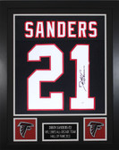 Deion Sanders Autographed & Framed Black Atlanta Falcons Jersey JSA COA