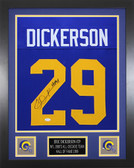Eric Dickerson Autographed & Framed Blue Los Angeles Rams Jersey JSA COA