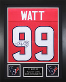 JJ Watt Autographed & Framed Red Houston Houston Texans Jersey JSA COA