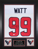 JJ Watt Autographed & Framed White Houston Houston Texans Jersey JSA COA