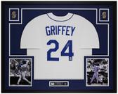 Ken Griffey Jr Autographed & Framed White Mariners Jersey Auto Beckett COA