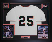 Barry Bonds Autographed & Framed Cream Giants Jersey Auto Beckett COA