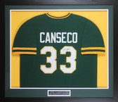 Jose Canseco Autographed & Framed Green Oakland A's Jersey Auto JSA COA
