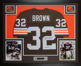Jim Brown Autographed & Framed Cleveland Browns Jersey Auto PSA COA