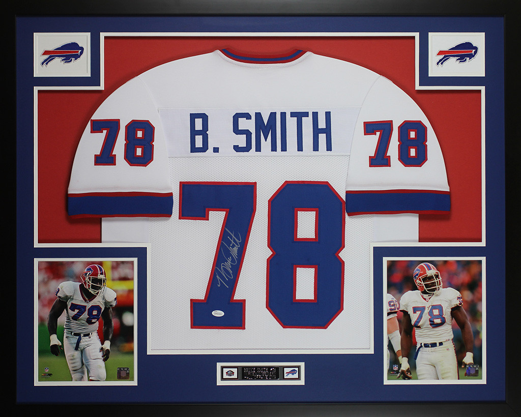 Bruce Smith Autographed and Framed White Buffalo Bills Jersey  supplier