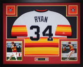 Nolan Ryan Autographed and Framed Rainbow Houston Astros Jersey Auto JSA Certfied