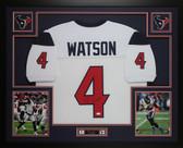 Deshaun Watson Autographed & Framed Houston Texans White Jersey Auto JSA COA