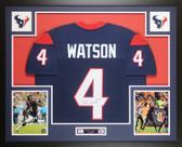 Deshaun Watson Autographed & Framed Houston Texans Blue Jersey Auto JSA COA