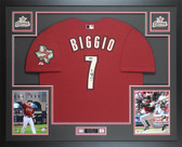 Craig Biggio Autographed & Framed Houston Astros Red Jersey Auto Tristar COA