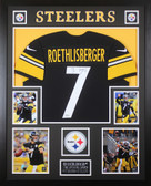 Ben Roethlisberger Autographed & Framed Black Steelers Jersey Fanatics COA