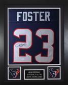 Arian Foster Autographed & Framed Blue Texans Jersey Auto JSA COA