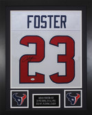 Arian Foster Autographed & Framed White Texans Jersey Auto JSA COA
