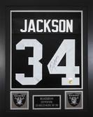 Bo Jackson Autographed & Framed Black Raiders Jersey Auto JSA COA