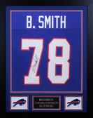 Bruce Smith Autographed and Framed Blue Bills Jersey Auto JSA COA