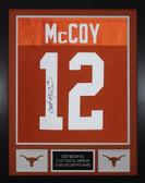 Colt McCoy Autographed & Framed Orange Longhorns Jersey Auto JSA COA