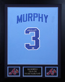 Dale Murphy Autographed & Framed Blue Braves Jersey Auto MLB Certified