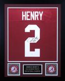 Derrick Henry Autographed & Framed Maroon Alabama Jersey Auto JSA COA