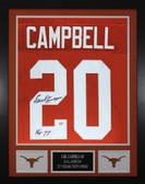 Earl Campbell Autographed & Framed Orange Longhorns Jersey GTSM COA