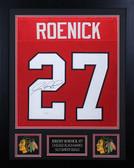 Jeremy Roenick Autographed and Framed Red Blackhawks Jersey JSA COA
