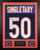 Mike Singletary Autographed & Framed Blue Bears Jersey HOF Auto JSA Cert