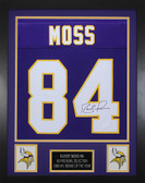 Randy Moss Autographed & Framed Purple Vikings Jersey Auto JSA Cert