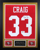 Roger Craig Autographed & Framed Red 49ers Jersey Auto JSA COA