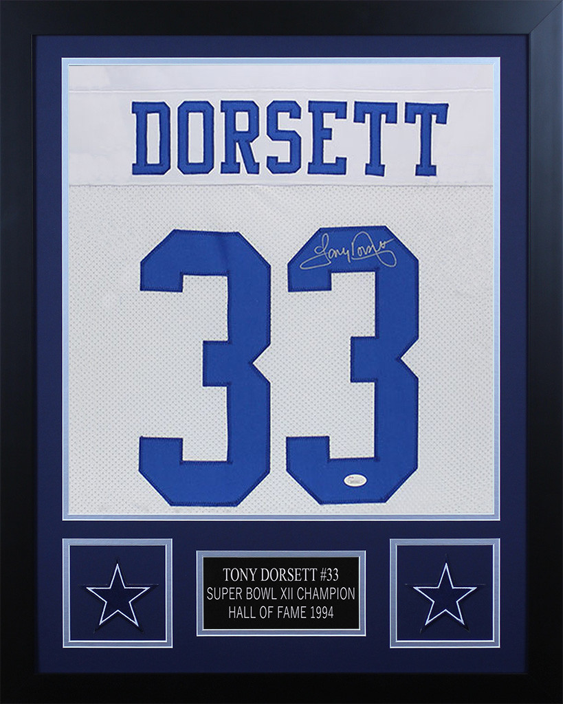 best cheap 79595 7cc4f Tony Dorsett Autographed and Framed Dallas Cowboys Jersey