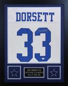 Tony Dorsett Autographed & Framed White Cowboys Jersey Auto JSA Cert