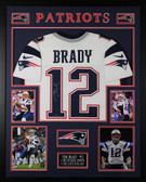 Tom Brady Autographed and Framed White New England Patriots Jersey Auto Tristar COA