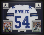 Randy White Autographed & Framed White Cowboys Jersey Auto Beckett COA