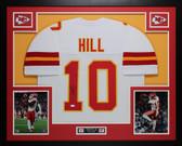 Tyreek Hill Autographed & Framed White Kansas City Chiefs Jersey Auto JSA COA