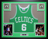 Bill Russell Autographed & Framed Green Boston Celtics Jersey Auto JSA COA