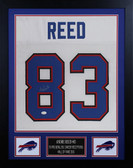 Andre Reed Autographed & Framed White Bills Jersey Auto JSA COA D2-S