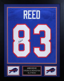 Andre Reed Autographed & Framed Blue Bills Jersey Auto JSA COA D3-S