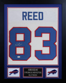 Andre Reed Autographed & Framed White Bills Jersey Auto JSA COA D4-S