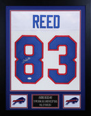 Andre Reed Autographed & Framed White Bills Jersey Auto JSA COA D5-S