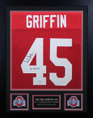 Archie Griffin Autographed & Framed Red Buckeyes Jersey PSA COA D2-S