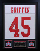 Archie Griffin Autographed & Framed White Buckeyes Jersey PSA COA D3-S