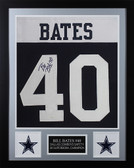 Bill Bates Autographed & Framed Thanksgiving Cowboys Jersey JSA COA D1-S