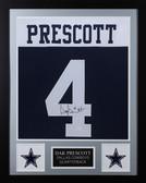 Dak Prescott Autographed & Framed Cowboys Thanksgiving Jersey JSA COA D1-S