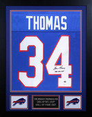 Thurman Thomas Autographed & Framed Bills Blue 1991 NFL MVP Jersey JSA COA D3-S