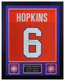DeAndre Hopkins Autographed & Framed Orange Clemson Tigers Jersey JSA COA D2-S