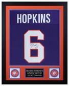 DeAndre Hopkins Autographed & Framed Purple Clemson Tigers Jersey JSA COA D2-S