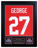 Eddie George Autographed & Framed Red Ohio State Buckeyes Jersey JSA COA D2-S