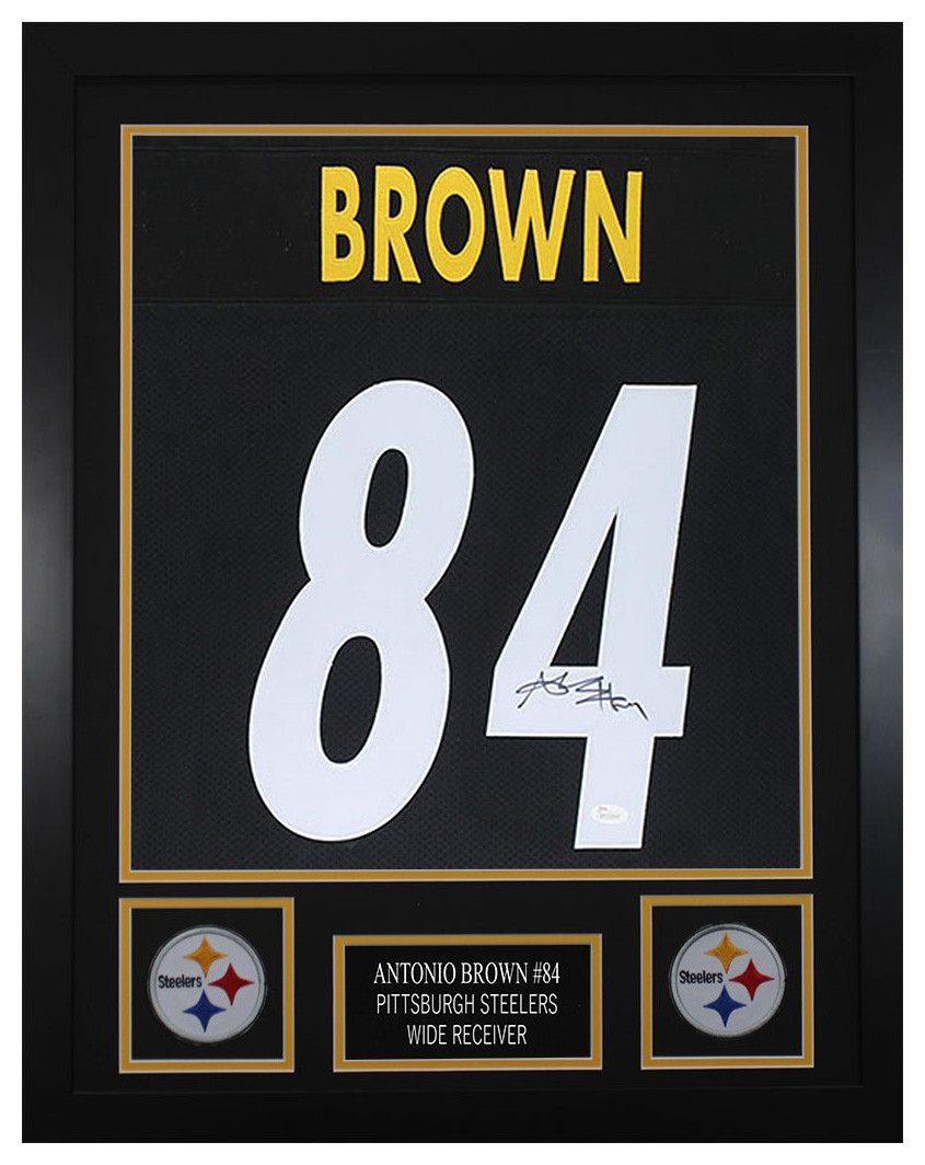 6dc06af8 Antonio Brown Autographed and Framed Pittsburgh Steelers Jersey