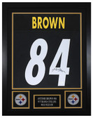 Antonio Brown Autographed & Framed Black Pittsburgh Steelers Jersey JSA COA D1-S