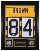 Antonio Brown Autographed & Framed Bumblebee Steelers Jersey JSA COA D1-S