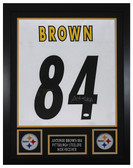Antonio Brown Autographed & Framed White Pittsburgh Steelers Jersey JSA COA D1-S