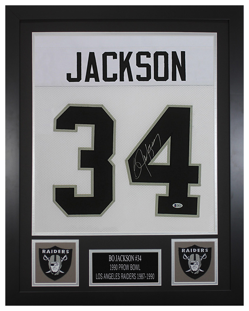 buy popular d5db1 d3f81 Bo Jackson Autographed and Framed Oakland Raiders Jersey